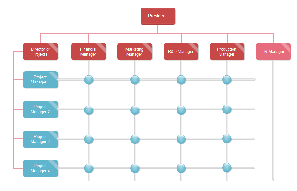 matrix org chart example template 2 - Organizational Flow Chart Template Free