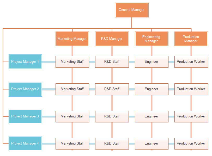 Human Resources Matrix Org Chart Template