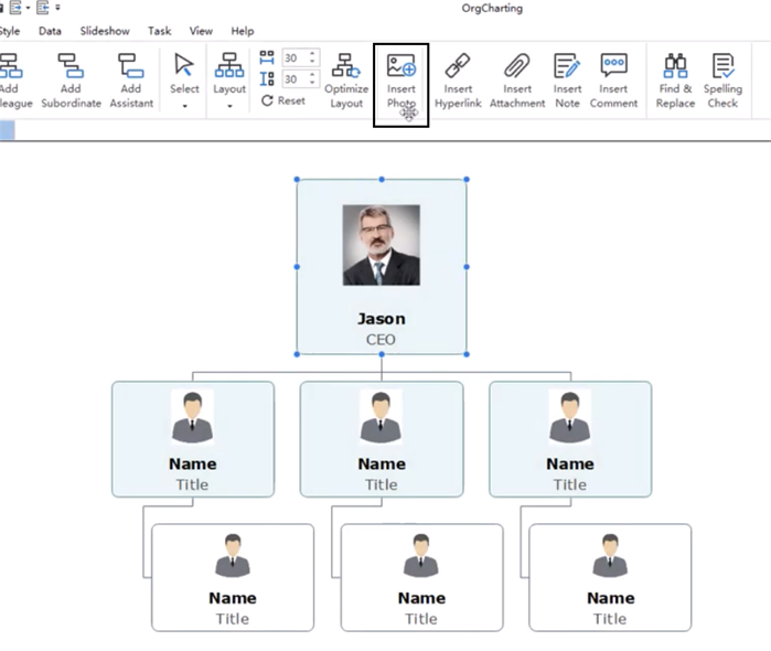 replace your organizational chart employee photo