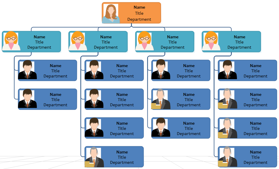company org chart in hierarchical form