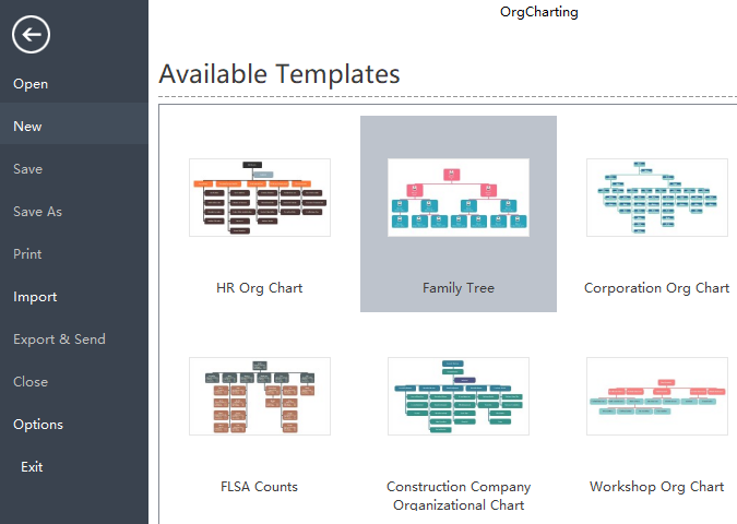 choose family tree diagram template