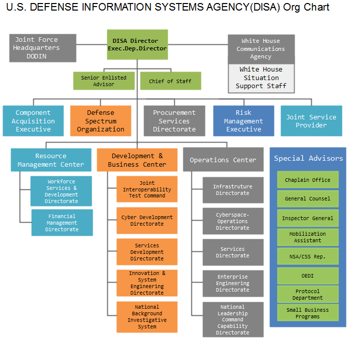 disa org chart example