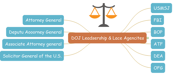 doj org chart offices and agencies
