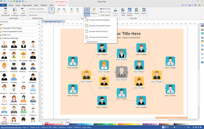 Interactive Org Chart Software Edraw