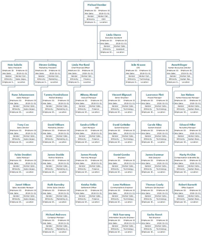 HR details organizational chart