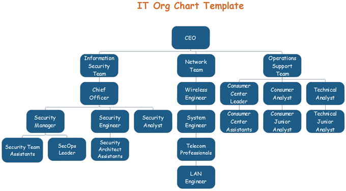 IT Org Chart Template