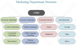marketing department structure