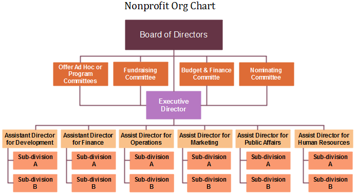 nonprofit org chart definition key points org charting. Black Bedroom Furniture Sets. Home Design Ideas