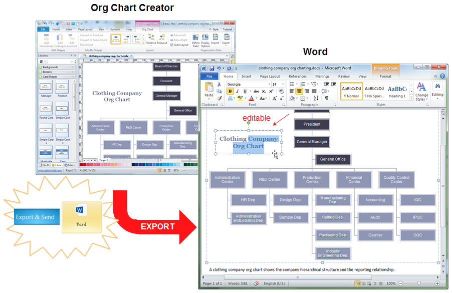 make org chart in word