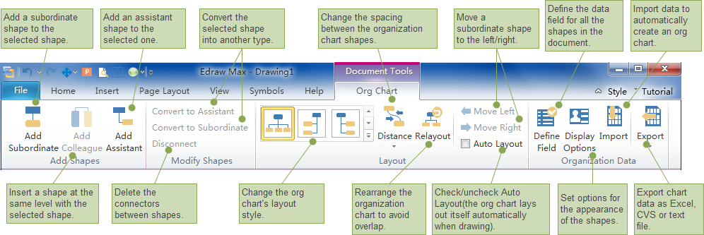 Interactive Org Chart Software features