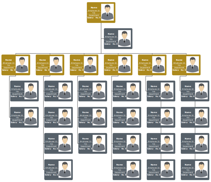 Org Chart with Photos and Salary