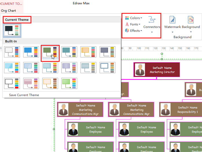 Interactive Org Chart Software stylish options