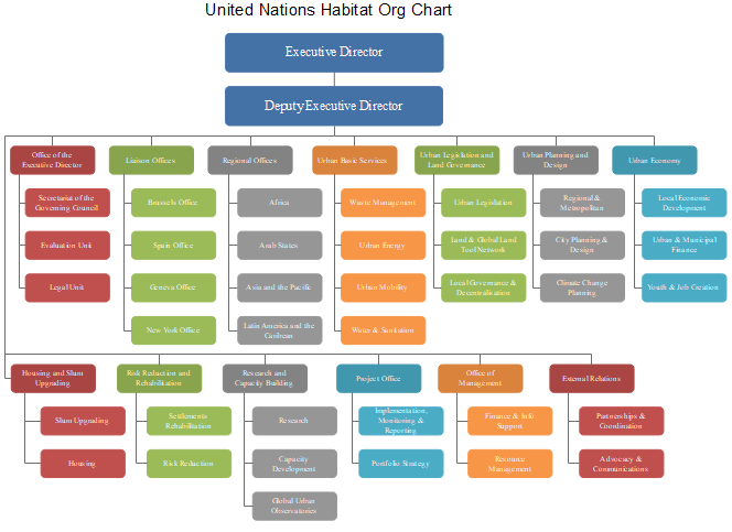 united nations habitat org chart
